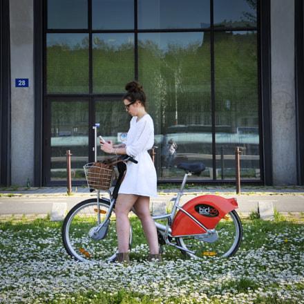 Vélo fleuri, Nikon D700, AF-S VR Zoom-Nikkor 24-85mm f/3.5-4.5G IF-ED