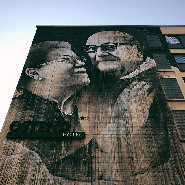 #streetart #wall #thechrystalship #ostend #visitoostende #belgium #vsco #vscocam #wanderlust...