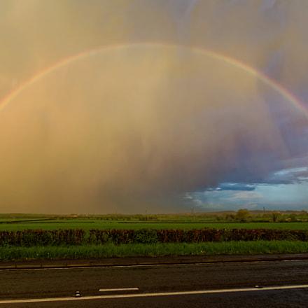 Sunset rainbow, Sony SLT-A77V, Tamron Lens (255)