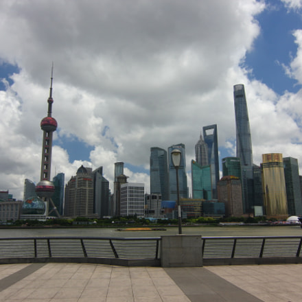 Shanghai on the promanede, Canon EOS 550D