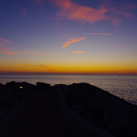 Sunset in Italy, Pentax K-7, smc PENTAX-DA 18-55mm F3.5-5.6 AL WR