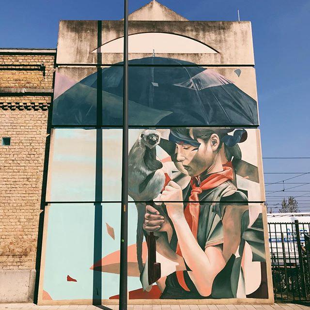 #streetart #oostende #visitoostende #thechrystalship #belgium #wanderlust #colours #wall...