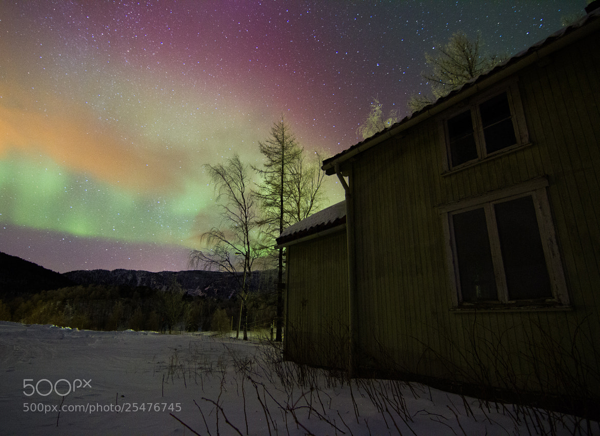 Photograph Aurora - Old house by Chris-André Paulsen on 500px