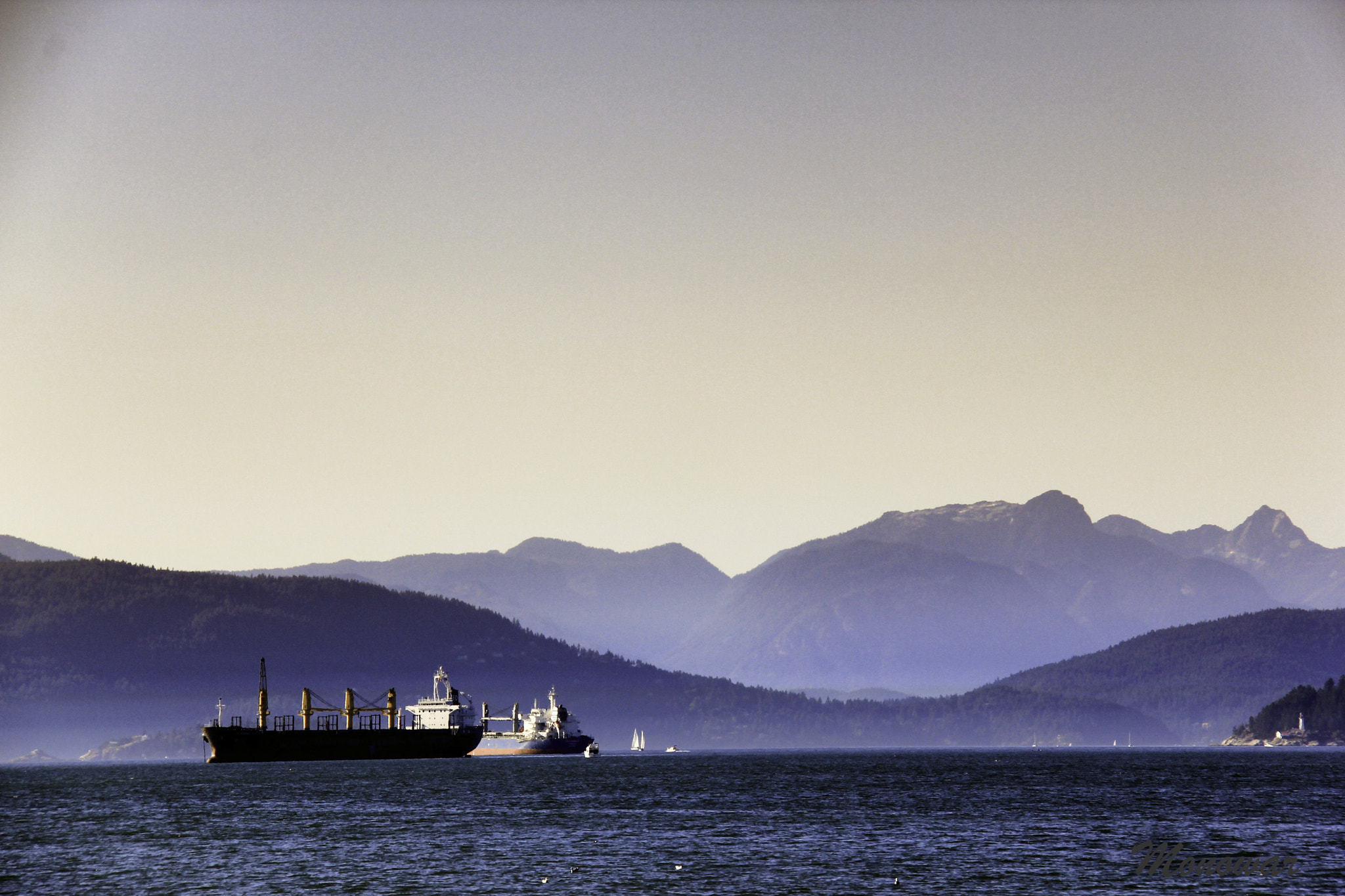 Photograph Ships & Mountain by Monowar  on 500px