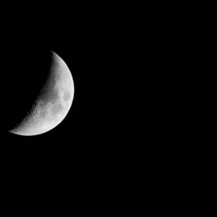The moon, Canon EOS 600D, Canon EF 70-300mm f/4-5.6 IS USM