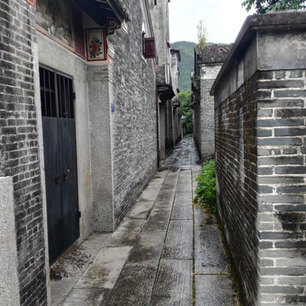 Paved footpath in Kaiping