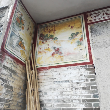 Painted wall in Kaiping
