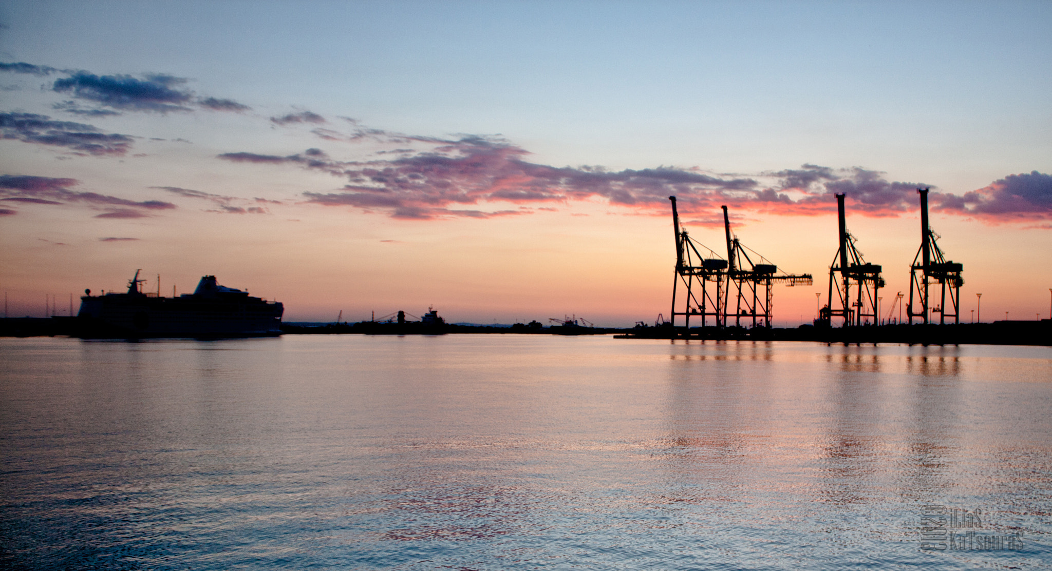 Photograph Dusk in the port by Ilias Katsouras on 500px