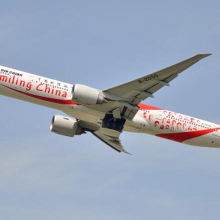 Air China Boeing 777-300ER, Nikon D7000, Sigma APO 100-300mm F4 EX IF HSM