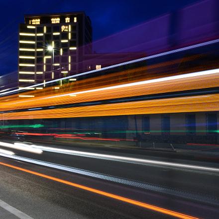 City speeding, Nikon D800, AF Zoom-Nikkor 28-80mm f/3.3-5.6G