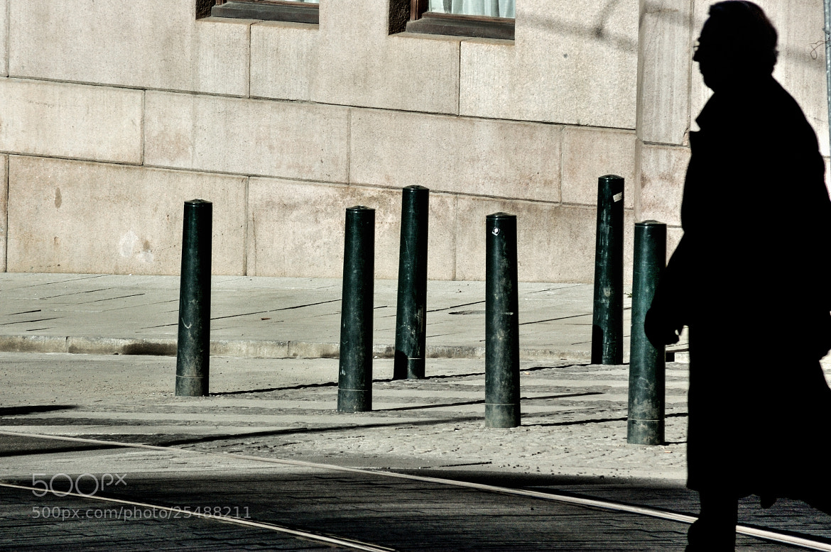 Photograph Man, glasses and bollards by Gunnar Sommerfeldt on 500px
