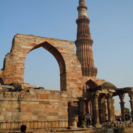 View of Qutub Minar, Nikon COOLPIX S8000