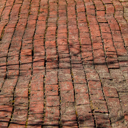 Emergent Curves in Brick, Nikon COOLPIX S9600
