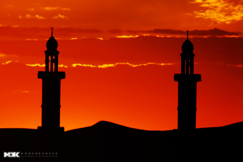 Photograph Sunset-Mosque by Momen Kanech on 500px