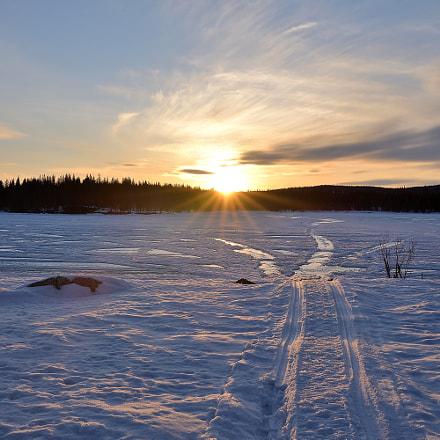 April Sunset Lapland, Nikon D610, Tamron SP 35mm f/1.8 VC