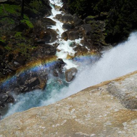 Vernall Falls Rainbow, Nikon COOLPIX L24