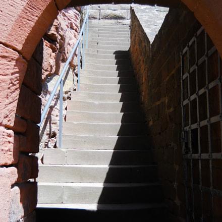 Burg Trifels Staircase, Nikon COOLPIX L24