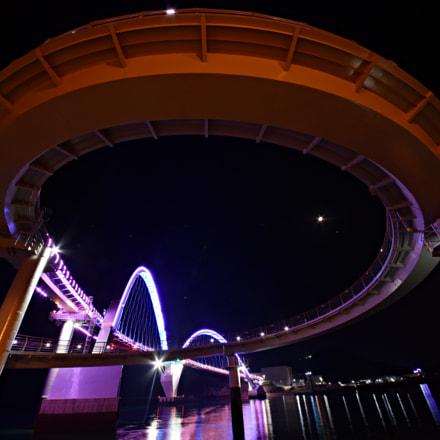 Night view of footbridge, Nikon D810, Sigma 12-24mm F4.5-5.6 II DG HSM