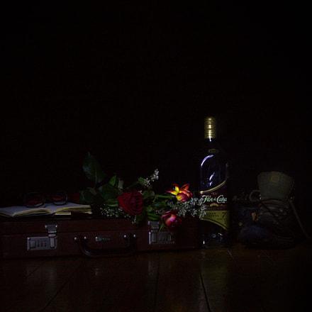 Light painted still life 1, Canon EOS 100D, Sigma 17-70mm f/2.8-4 DC Macro OS HSM | C