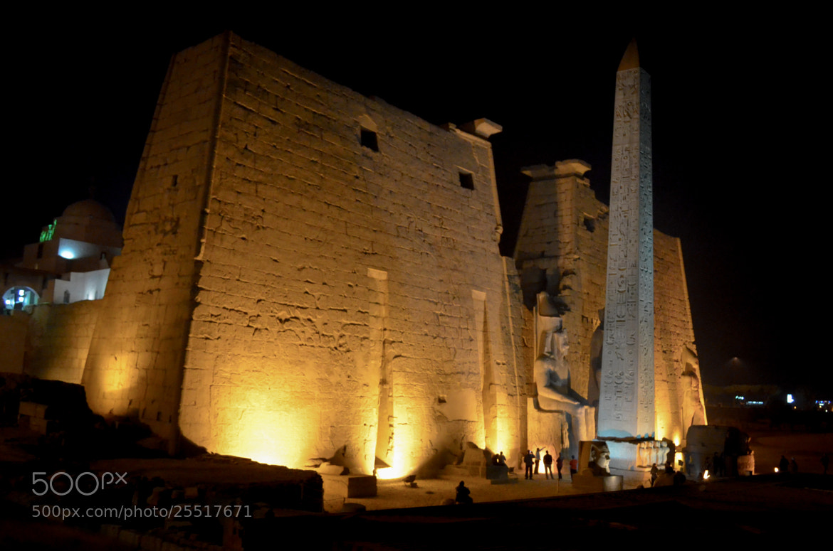"""Photograph Night at the """" Luxor Temple """" by Diaa El-Swahly on 500px"""