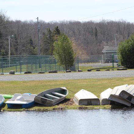 Lake Boat, Canon EOS REBEL T6, Canon EF 75-300mm f/4-5.6