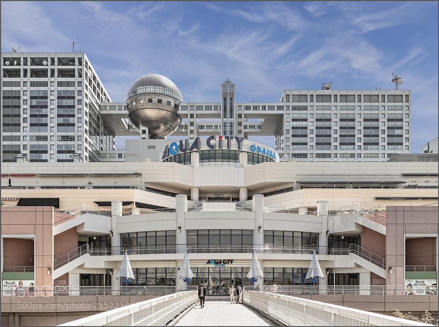 Aqua City with Fuji TV headquarters