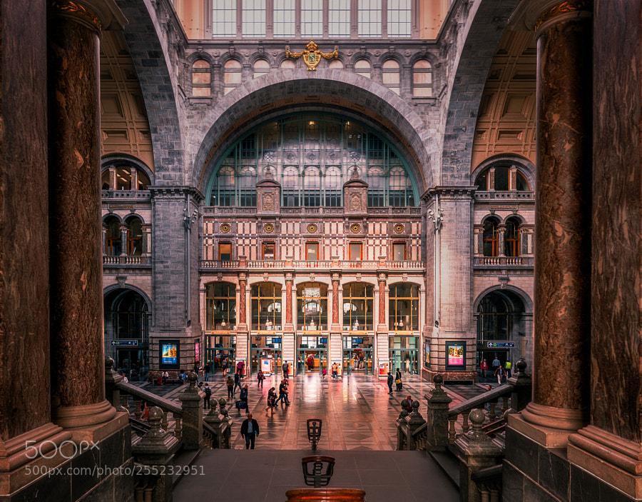 Central Station Antwerp, Belgium.