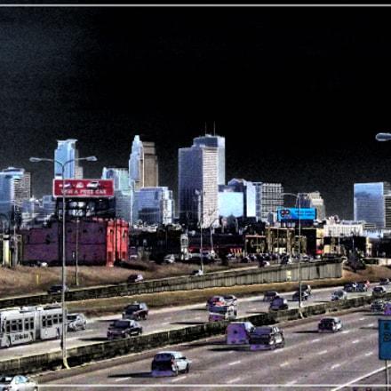 Minneapolis Skyline Intense, Fujifilm FinePix S4250WM