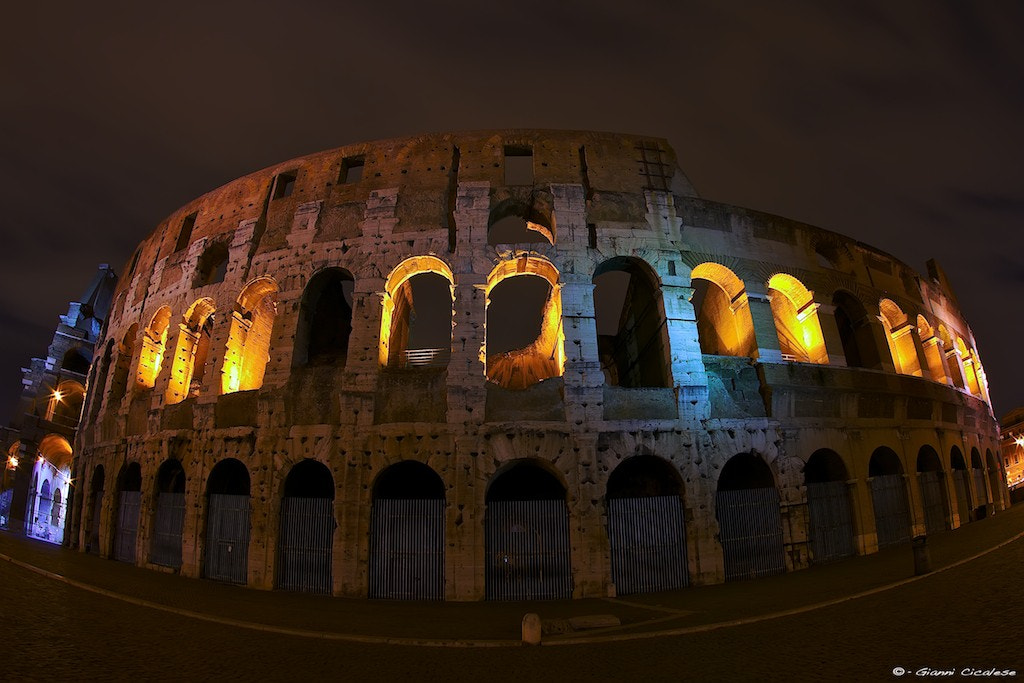 Photograph Night Lights on Coliseum by Gianni Cicalese on 500px