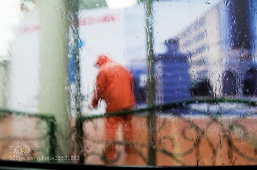 Photograph Workers , rainy day in Shanghai by Peter Fisher on 500px