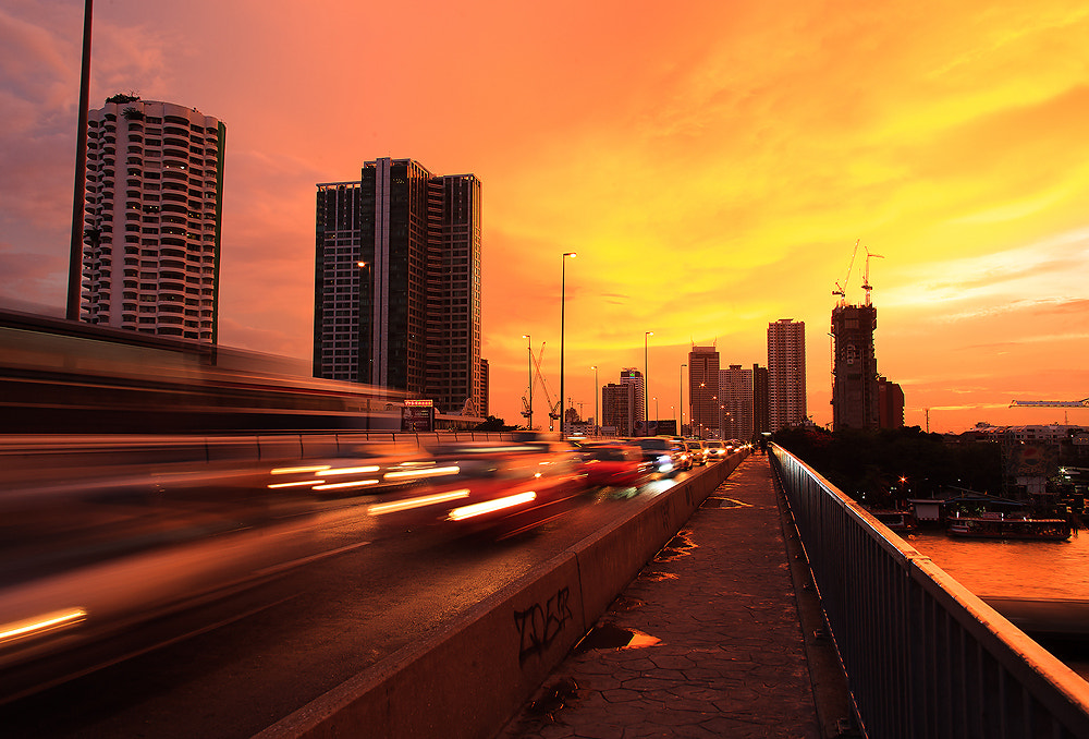 Photograph Sunset Traffic Thailand  by MinimalSpace  on 500px