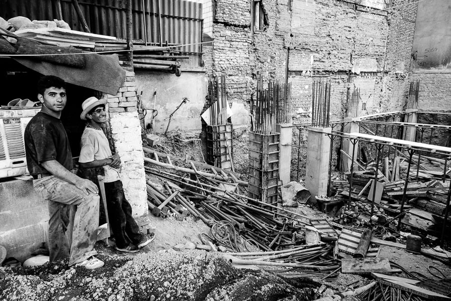 Photograph Construction workers in Tehran building site by Damon Lynch on 500px