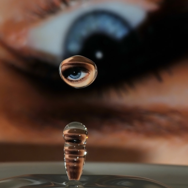 Photograph the eye in drop by Franco Mottironi on 500px