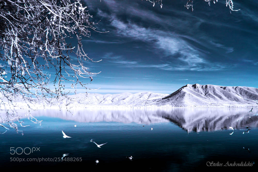 "Panasonic DMC-FH27 sample photo. ""Infrared lake"" photography"