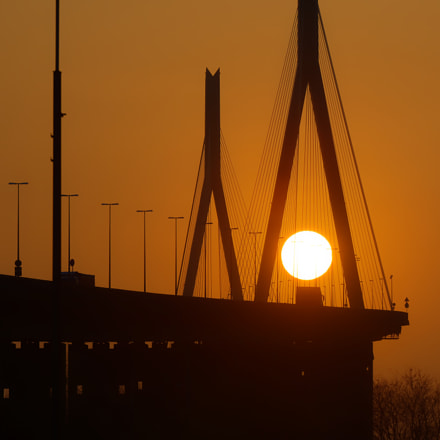 Köhlbrand Sunset, Nikon D800, Sigma 70-200mm F2.8 EX DG OS HSM