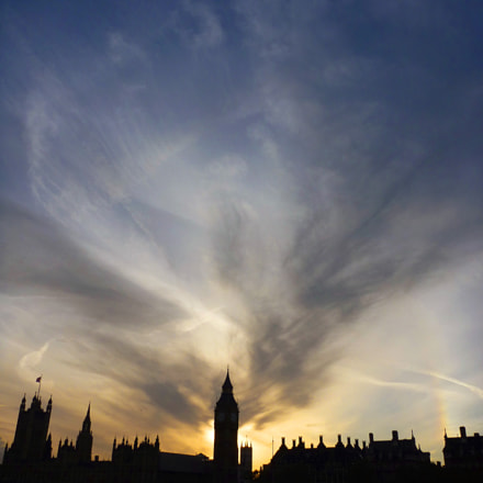 Sunset over Big Ben, Panasonic DMC-FT1
