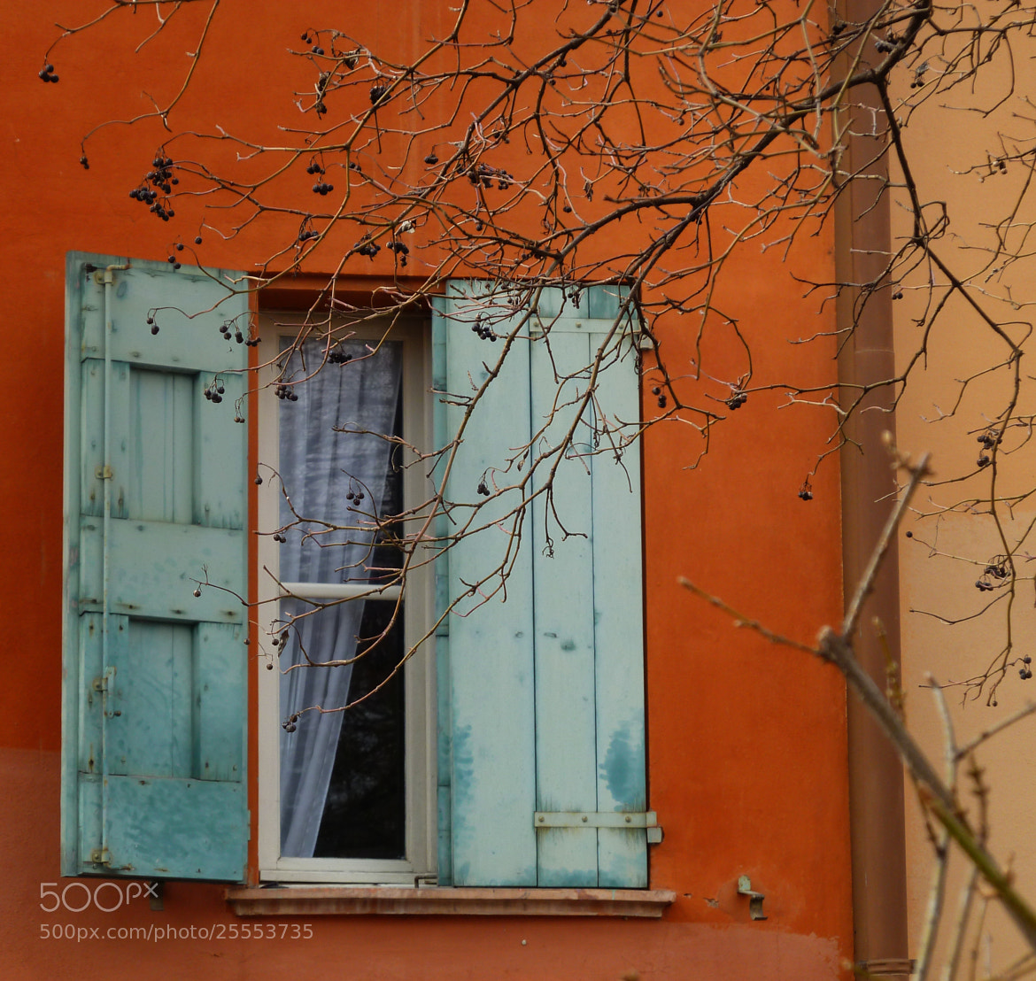 Photograph A teal window by Laura Tositti on 500px
