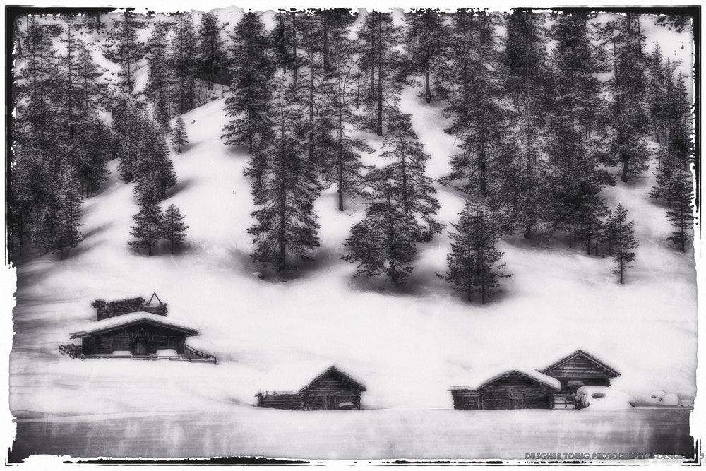 Photograph FOUR CABINS AND A RUIN by Duschan Tomic on 500px