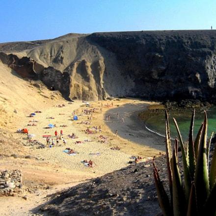 Papagayo beach, Lanzarote, Canon DIGITAL IXUS 60