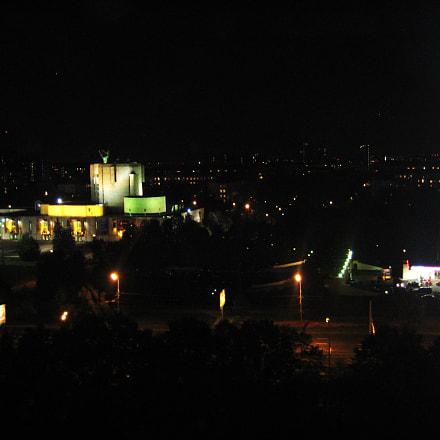 Москва ночью. Театр им Н. Сац., Canon DIGITAL IXUS 70
