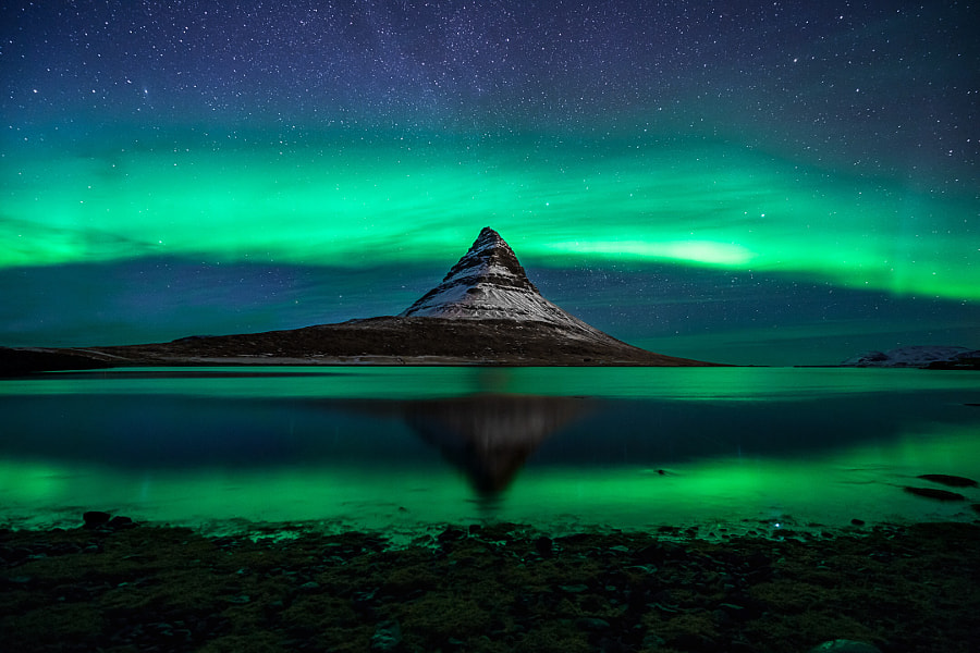 The Norther Lights as seen from Iceland., автор — Ky Ferguson на 500px.com