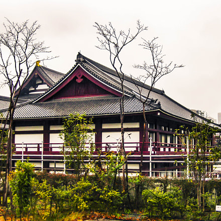 Japanese Building - Tokyo, Canon POWERSHOT SD770 IS