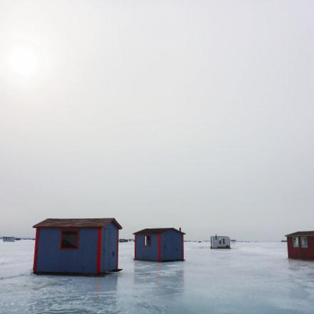 Ice fishing cabins on, Panasonic DMC-TS5