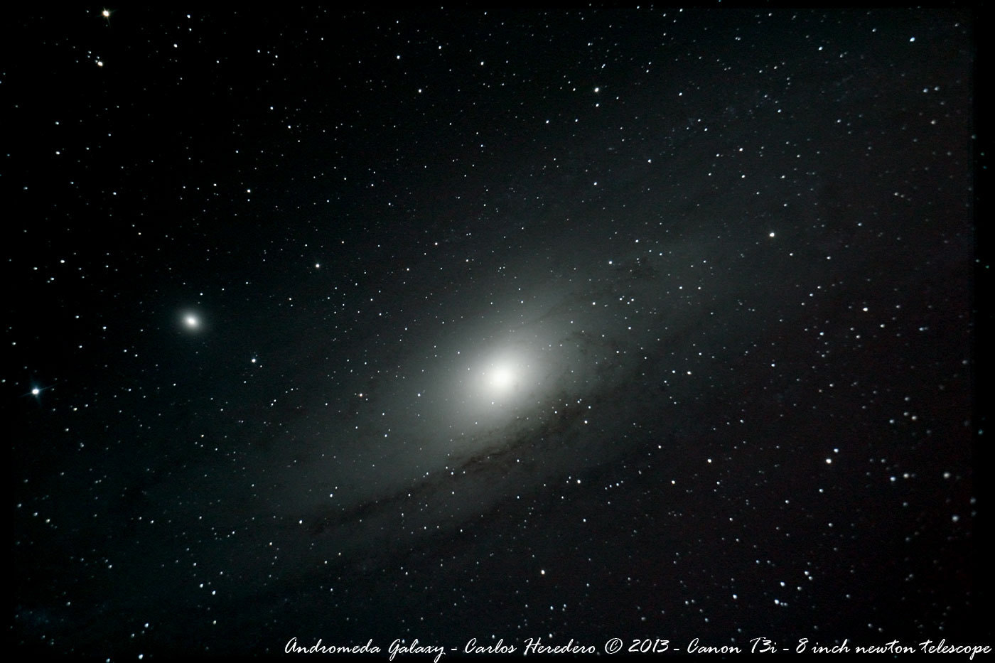 Photograph Andromeda Galaxy (one more) by Carlos Heredero on 500px
