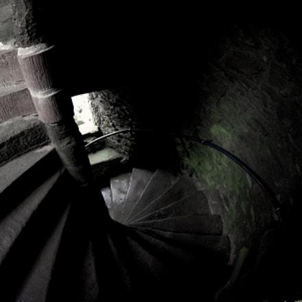 Castle spiral staircase, Pentax K-X, smc PENTAX-DA FISH-EYE 10-17mm F3.5-4.5 ED[IF]