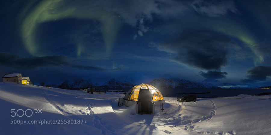 Nothern lights above Lyngenalps