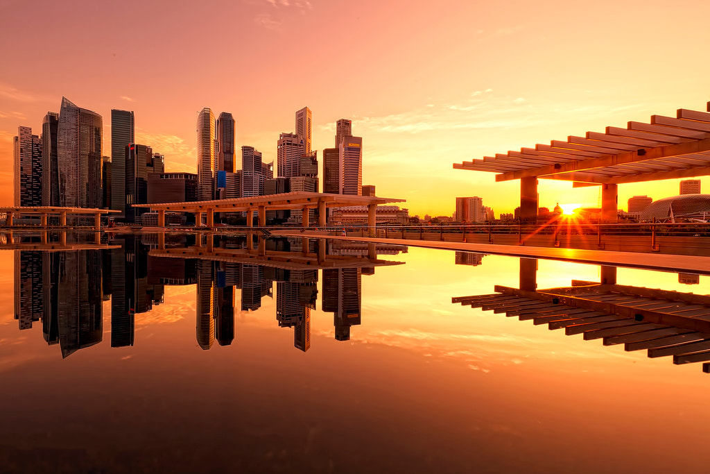 Photograph Sunset from ArtScience Museum by Justin Ng on 500px