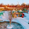 Sunny winter playground
