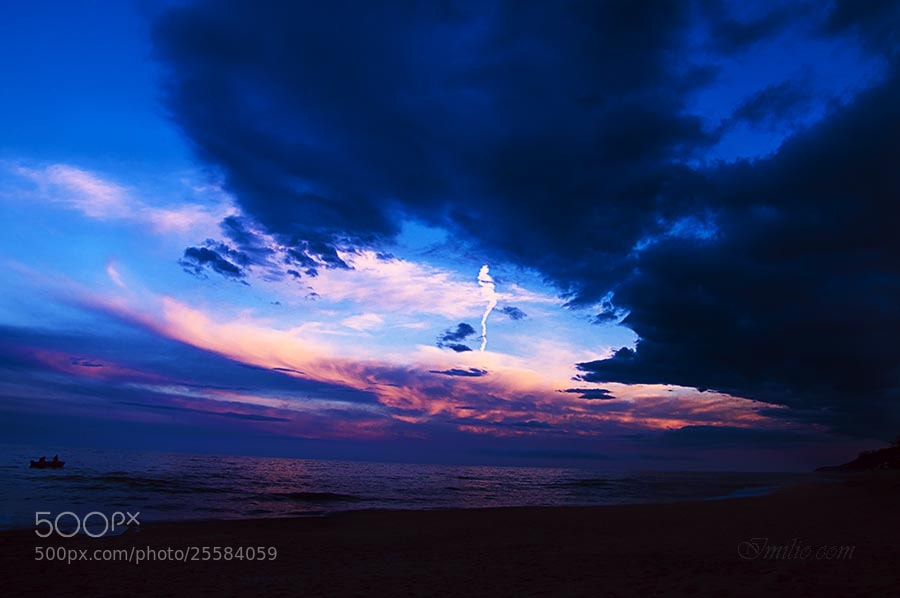 Photograph Blue Red Hour by InspirationHome on 500px