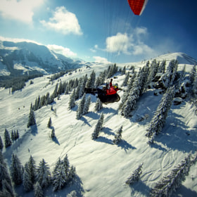 Paragliding - Zwölferkogel  by David Bengtsson on 500px.com
